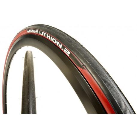 Cubierta Michelin Lithion 700 x 23 rojo