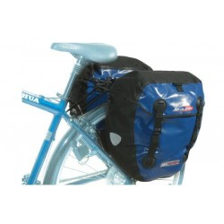 Alforjas traseras Massi CM 227 DOUBLE 100% IMPERMEABLE-AZUL