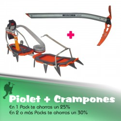 Pack Climbing Technology Crampones Semiautomaticos + Piolet Tour Light