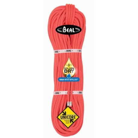 Cuerda Beal Joker 9,1 mm GoldenDry 60 m Unicore Naranja