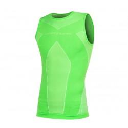 Camiseta termica Spiuk Top Ten Verde Sin Mangas