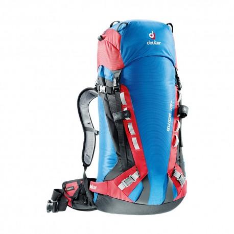 Mochila Deuter Guide 35+. Azul y rojo