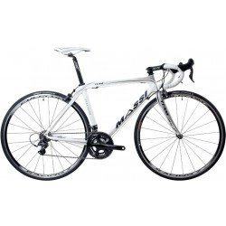 Bicicleta de carretera Massi Team blanco/plata