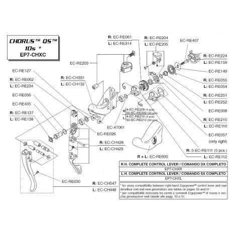 Rueda dentada Campagnolo para manetas de 10 Velocidades EC-RE061