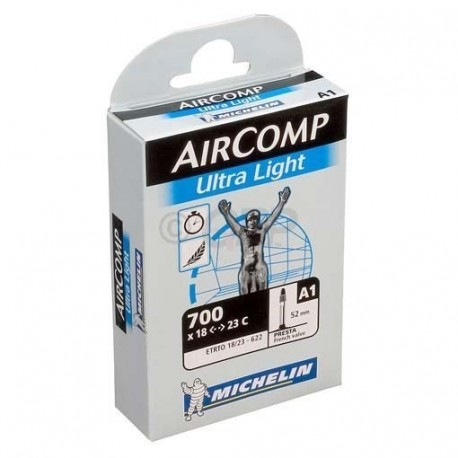 Camara de aire Michelin Ultra Light AirComp 700 x 18-23C valvula de 40mm