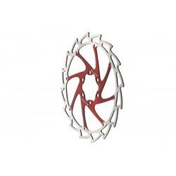 Disco freno Massi 6 tornillos 180mm rojo